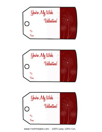 Valentine Wish Gift Tags