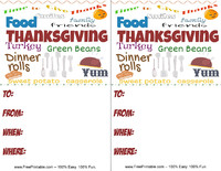 Word Cloud Thanksgiving Invitation