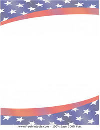 Stars and Stripes Stationery