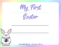 My First Easter Certificate