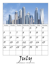 July 2020 Picture Calendar