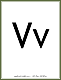 Flash Card Letter V