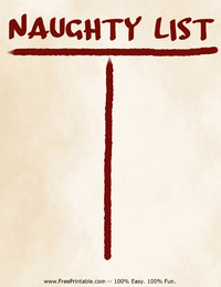 Naughty List Stationery