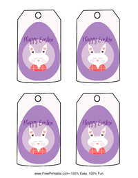 Easter Rabbit Gift Tag