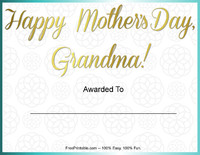 Mother's Day Award Grandma