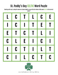 Celtic Word Puzzle