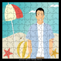 Man at Beach Puzzle