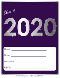 Free Printable Graduation Invitations 2020.Class Of 2020 Invitation