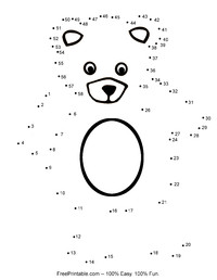 Teddy Bear Dot To Dot