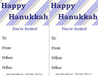 Happy Hanukkah Invitation