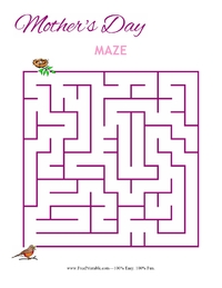 Mother's Day Maze Easy