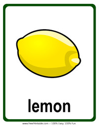 Lemon Flash Card