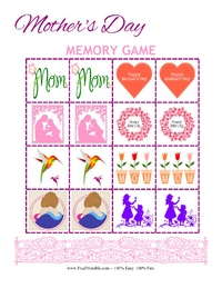 Mother's Day Memory Game