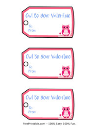 Valentine Owl Gift Tags