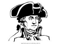 General George Washington Coloring Page