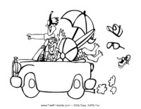 road trip usa coloring pages - photo#41