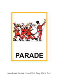 Parade Flash Card