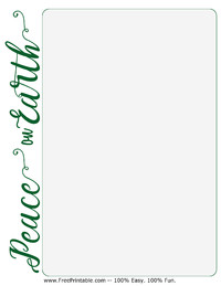 Peace on Earth Stationery