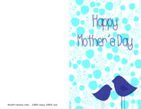 Birds Mother's Day Card