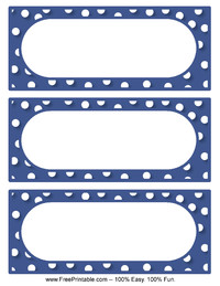 Polka Dot Labels Blue