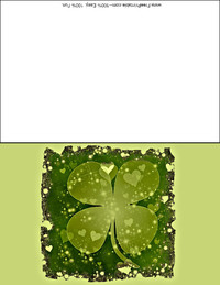 Shiny Clover Greeting Card