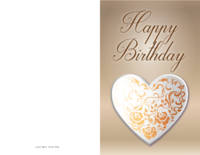 Scrollwork Heart Birthday Card