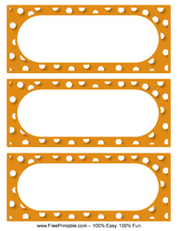 Polka Dot Labels Orange