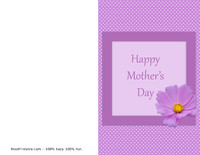 Polka Dot Mother's Day Card