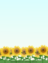 Sunflower Stationery