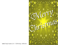 Gold Snow Christmas Card