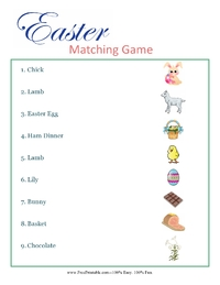 Easter Religious Matching Game