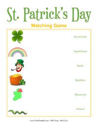 St. Patrick's Day Matching Game