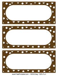 Polka Dot Labels Brown