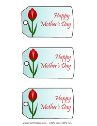 Mother's Day Tulip Gift Tag