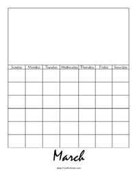 Perpetual March Calendar Picture
