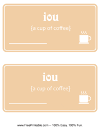 IOU Coffee