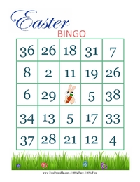 Easter Bingo Card 4