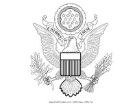 American Seal Coloring Page