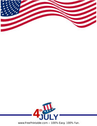 Fourth of July Stationery