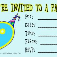 9th Birthday Party Invitation