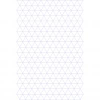 A4 Variable Triangle Graph Paper
