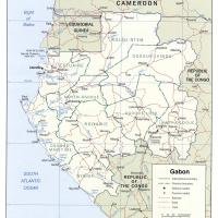 Africa- Gabon Political Map