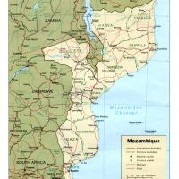 Africa- Mozambique Political Map