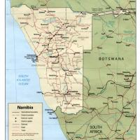 Africa- Namibia Political Map