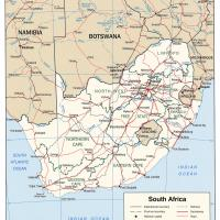 Africa- South Africa Political Map