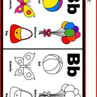 Alphabet B Coloring Worksheet