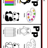 Alphabet P Coloring Worksheet