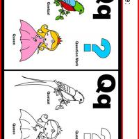 Alphabet Q Coloring Worksheet