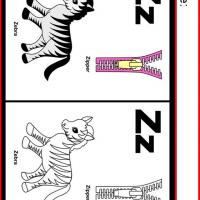Alphabet Z Coloring Worksheet