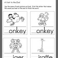 Animals Beginning Consonants Review